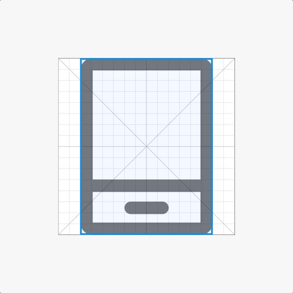 Vertical rectangle contour