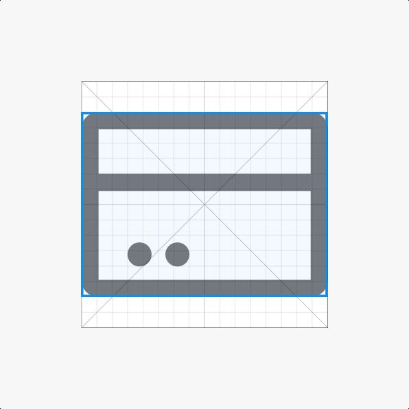 Horizontal rectangle contour